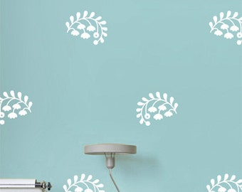 Wall Decal Flower, Wall Decals for Bedroom, Vinyl Wall Sticker Ethnic flowers, Gold Flowers for Living Room