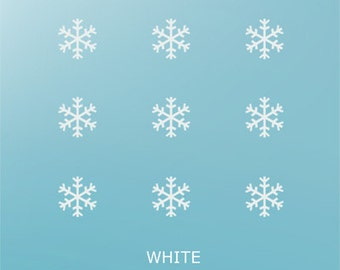 Snowflakes Christmas Crystal Glass Stickers Window, Wall Decals Christmas Decoration Removable