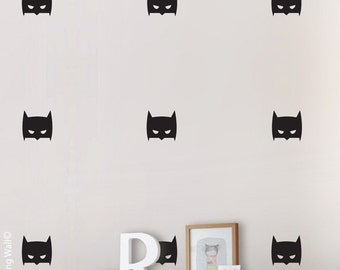 Batman Wall Sticker, Hero wall art for boy room, Super Hero Mask Wall Decal, Superhero wall decal, Batman decor, Batman decorations for kids