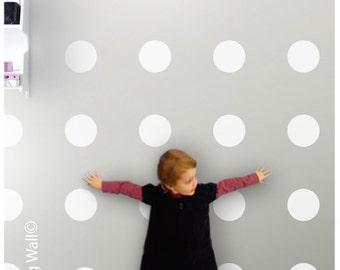 Vinyl Polka Dot Removable Wall Decals, Spot Decal, Home decor, White Polka Dot, Polka Dots Wall Art Nursery Decor