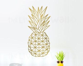 Geometric Pineapple Wall Art, Fruit Stickers Wall Decal Decor, Australian Made