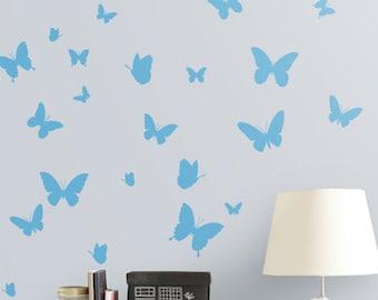 Butterflies Nursery Decor Butterfly Vinyl Wall Sticker, Butterflies Wall Decals Australian made