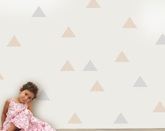 Triangle Vinyl Wall Sticker, Triangle Patterns Home Decals, Large Triangles Wall Decals, Triangle Decal, Pattern Decor, Triangle Stickers