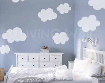 Fluffy Cloud Wall Decals, Cloud Decal, White Cloud Wall Stickers, Cloud Nursery Decor Australian made