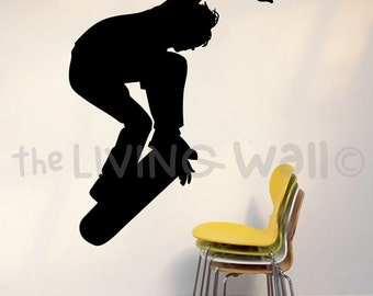 Skateboard Decals, Skateboarding Vinyl Wall Sticker, Skate Decor, Skateboar Stickers, Skate Silhouette, Skateboard Decor, Skate Wall Art