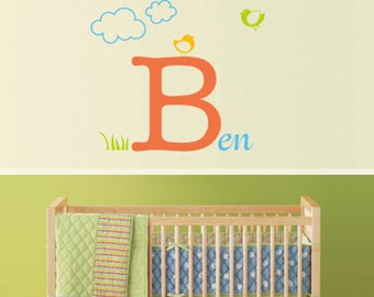 Vinyl Wall Sticker Decal Home - Personalised Name Sign