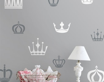 Vinyl Wall Sticker Decal Home - Royal Crowns