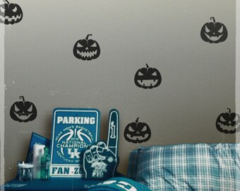 Halloween wall decals, Happy halloween wall stickers removable decal, with four free spiders