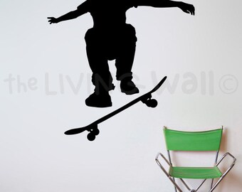 Skateboarding Wall Stickers, Skateboard Wall Art, wall decal skater for bedroom, Skateboard Nursery Wall Decor, Skater Vinyl Removable Decal