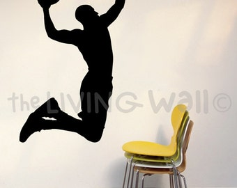 Basketball Wall Decal, Basketball Vinyl Wall Sticker, Basketball Silhouette Wall Decals, Basketball Wall Decor, Basketball Wall Art