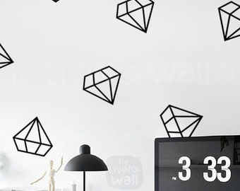 Geometric Diamonds Wall Decals, Diamond Pattern Stickers, Patterns Wall Art Bedrooms Australian Made