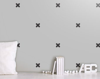 X Vinyl Wall Sticker, Geometric Decal Home, X Pattern Stickers, Crosses Wall Decals