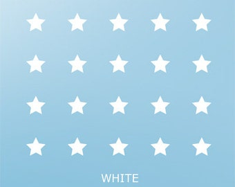 Star Vinyl Wall Sticker Baby Nursery, White Stars Wall Art Decal Home Ideas Christmas Wall Decals for Kids Room