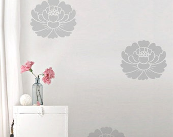 Lotus Flower Wall Decals, Zen Home Decor, Floral Wall Decor, Yoga Wall Art, Vinyl Wall Sticker, Home Decor, Lotus Removable Wall Stickers