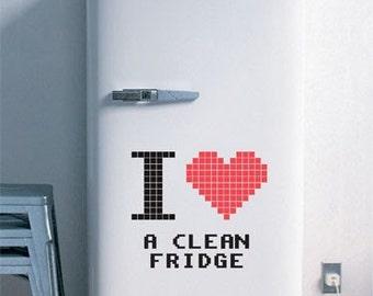 Clean Fridge Love - Fridge decals - Fridge Stickers