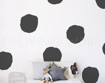 Big Polka Dots Nursery Wall Decal, Gold Polka Dot Extra Large, Gold Polka Dots Wall Stickers Baby Room, Hand Drawn Polka Dots Nursery