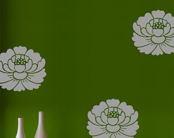Lotus Flower Wall Decals, Zen Home Decor, Floral Wall Decor, Flower Wall Art, Vinyl Wall Sticker Decal Home