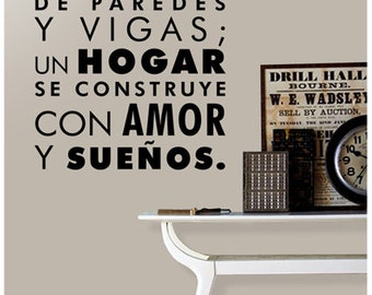 Vinyl Wall Sticker Decal Home - Spanish Words