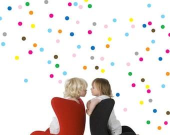 Small Polka Dots Wall Decals, Confetti dots Wall Sticker Nursery Decor Australian made