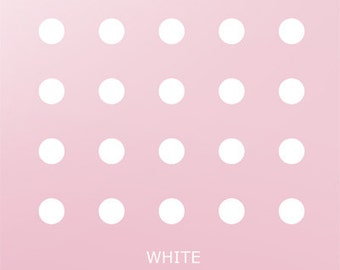 Vinyl Wall Sticker, spot Decal, Home decor, White Polka Dots, Large white Polka Dots