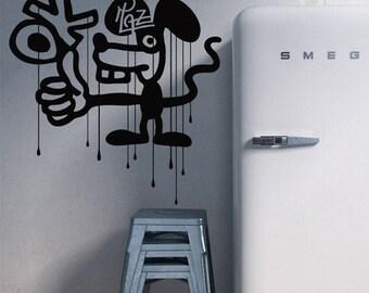 Urban Vinyl Wall Sticker, Graffiti wall decals, Street Art Australian made