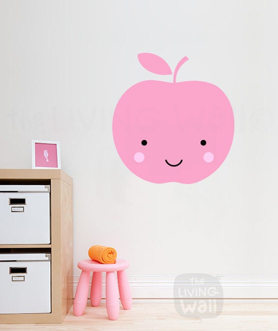 apple nursery wall decals fruit baby room wall art sweet | etsy