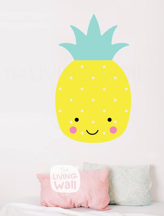 Pineapple Nursery Wall Decals, Fruit Baby Room Wall Art, Sweet ...