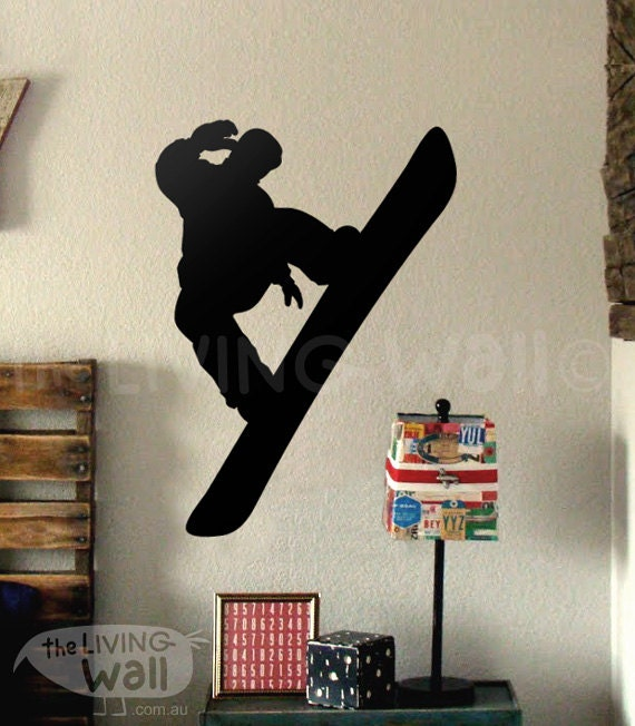 Snowboard Wall Decal, Snowboard Wall Decor for Bedroom, Snowboard ...