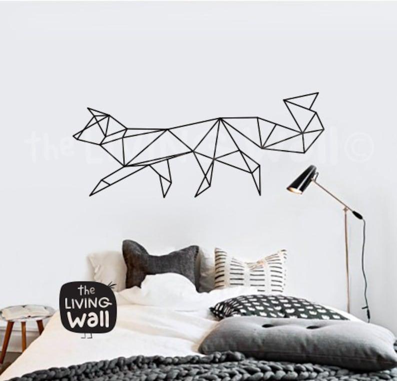 Australian Made Geometric Woodland Wall Art Geometric Fox Wall Decal Home Decor Vinyl Wall Stickers