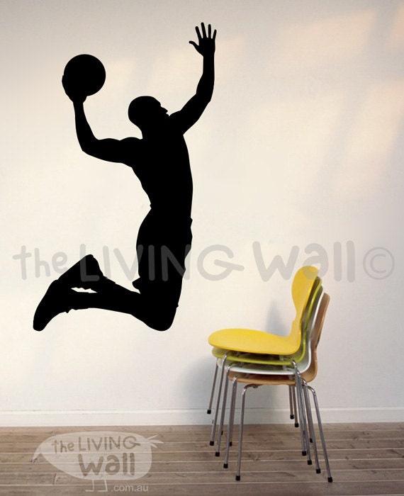 Basketball Wall Decal, Basketball Vinyl Wall Sticker, Basketball Silhouette Wall  Decals, Basketball Wall Decor, Basketball Wall Art