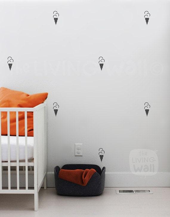 Ice Cream Cone Kinderzimmer Wand Muster Wandtattoo Aufkleber