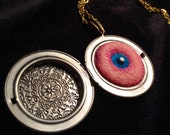 The Witches Eye Pendant. Magical Charm and Locket.