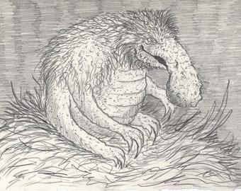 The Baraheath Beast- Hand Drawn  Illustration