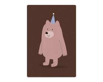 small Bear with hat cutting board