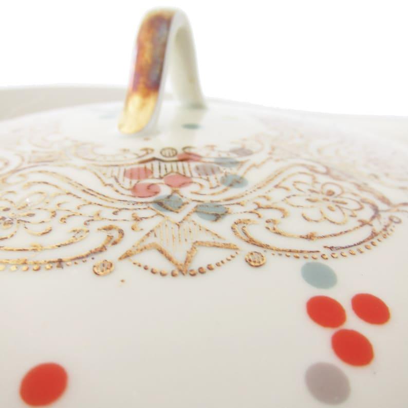 porcelain stickers clolourful dots