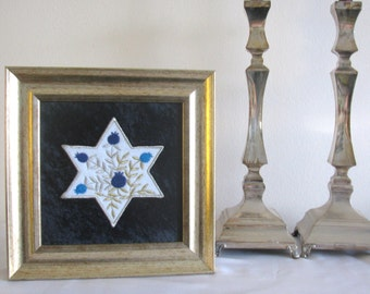 Jewish gift, Star of David, Magen David wall art, Jewish Kabbala, Jewish art, Judaica art, Jewish religious - Original Hand Made Israeli Art