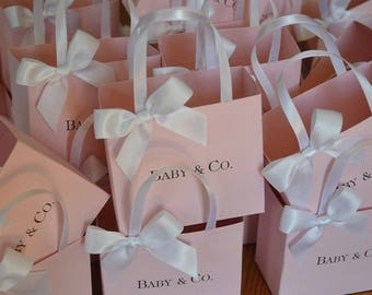 pink party favor bags for your baby shower l bridal shower l baptism