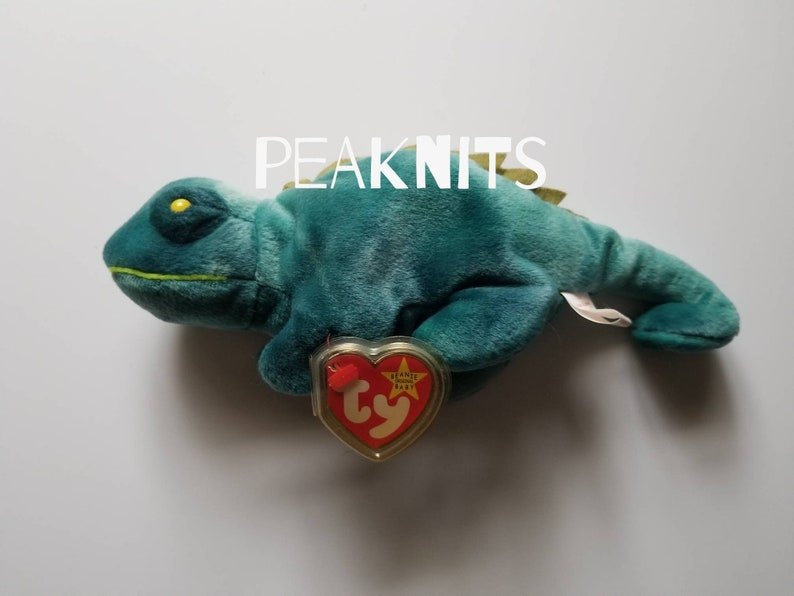 7a9ec17cbbf Iggy Iguana Ty Beanie Baby 1997 Vintage Green and Yellow