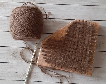 Custom Hand Spinning and  Weaving Service - Your Puppy Fluff turned into Handspun Yarn and woven into Heart - Chiengora, Dog, Cat