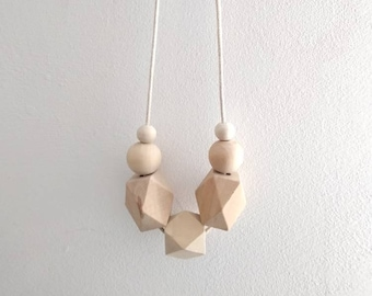 Wooden 100% natural necklace