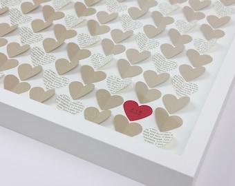 Heart guestbook Wedding, Guest book frame, Heart guest book, Love is Patient Love is Kind, 1 Corinthians, Wedding Guest Book alternative