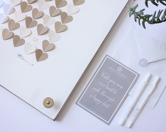 Heart Guestbook, Wedding guest book alternative, Heart guest book, Unique guest book, Guest Sign In, rustic wedding guestbook