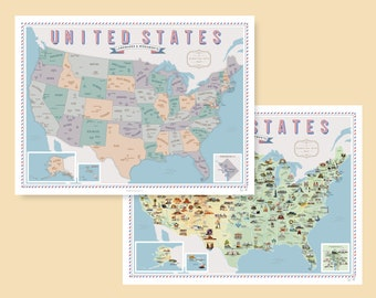 US Landmarks & Monuments Scratch-off Chart