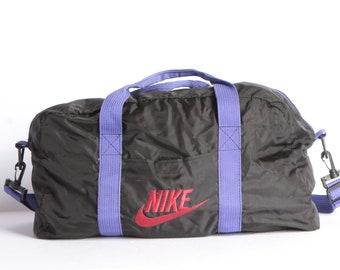 vintage NIKE 1990s COLOR block DUFFEL bag handle bag with shoulder strap 538a1d30df