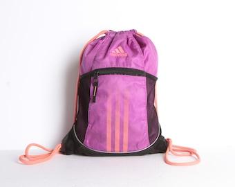 fdb657ea93f3 vintage ADIDAS sportswear active wear MINI BACKPACK club kid mid 90s  vintage backpack