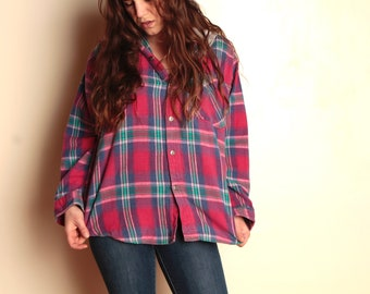 4bd49acfba98e 90s nirvana GRUNGE plaid FLANNEL oversized HOODIE button up down shirt  crossover