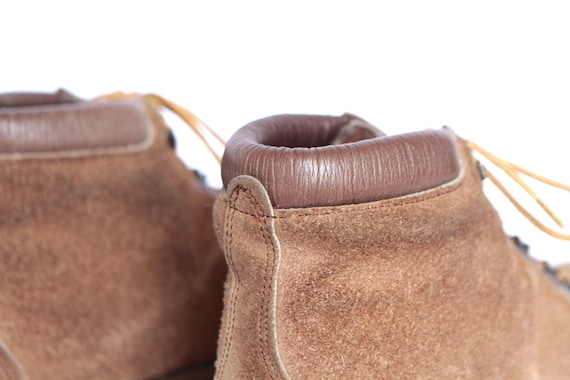 8 LEATHER vintage 80s women's brown 90s hiking vintage BOOTS booties size qHpZg4ZE