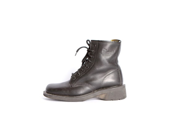 MARTENS DOC combat nirvana rugged black women's size 10 style boots GRUNGE 90s xwqtEaH8