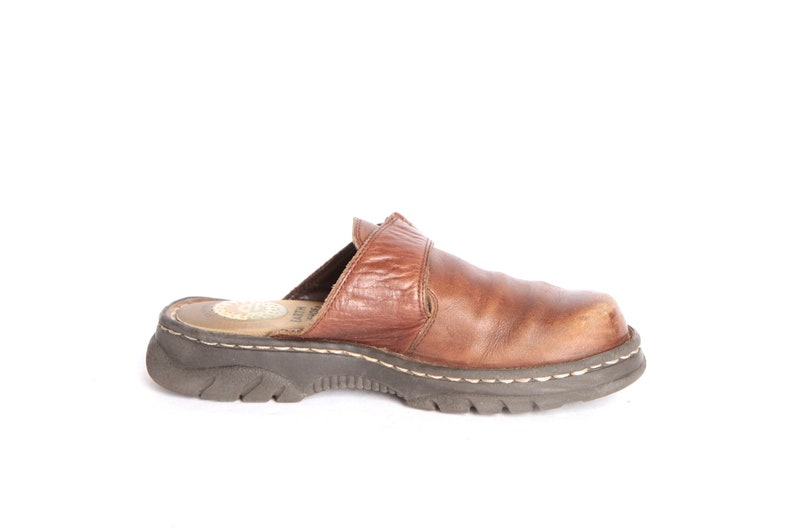 3235022e6118a vintage SLIDES Dr. Marten STYLE Earth Shoe size 6 women's brown leather  mary jane MULES vintage 90s shoes
