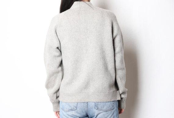 vintage wool & suede CARDIGAN warm cozy WINTER ca… - image 4